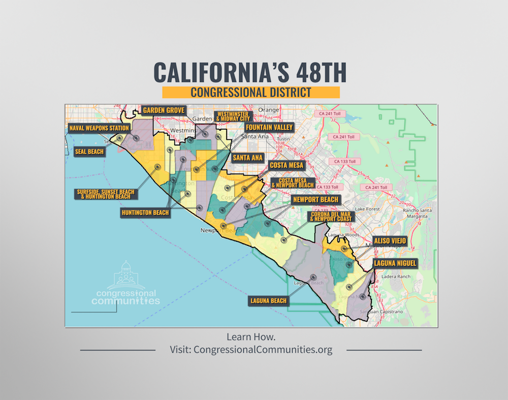 call my congressman after map of ca 48 congressional communities